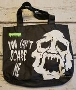 Goosebumps You Cant Scare Me 90s black tote bag
