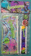 Goosebumps Study Kit in pkg case ruler eraser sharpener