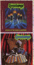 Goosebumps 48 Attack of the Jack O Lanterns metallic stickers