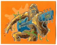Mud Monster guitar Textured Merlin 114 sticker