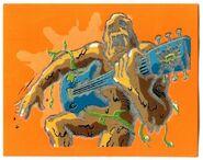 Mud Monster guitar Textured Merlin 114 sticker