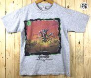 35 Shocker Shock street grey bordered t-shirt front