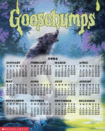 Goosebumps 14 Werewolf Fever Swamp 1994 calendar