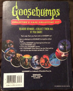 Goosebumps Collectors Caps Collecting Kit Pack back