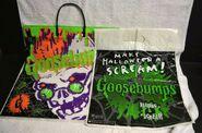 Goosebumps plastic halloween treat bags 90s Curly Scream