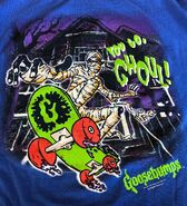 You Go Ghoul mummy skateboard 1997 t-shirt detail