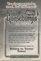 GYG Special Edition 2 Return Terror Tower bookad from GYG27 1998 1stpr