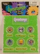 Goosebumps 3D Puffy Stickers 1996 characters