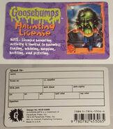 36 Haunted Mask II Haunting License Antioch ID card f+b