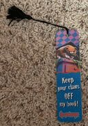 Cuddles Keep Claws Off Antioch tasseled bookmark