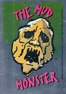 1 Mud Monster Topps Foil Sticker