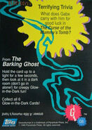 32 Barking Ghost Glow Dark Topps Trading Card G6 back