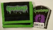 GB logo green black bumpy Photo Sleeve wallet w tag