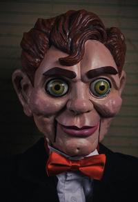 Goosebumps slappy puppet prop closeup