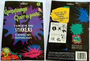 9 Glow in Dark Sticker Pack 1 f+b