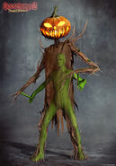Haunted Halloween Pumpkinhead Concept 2