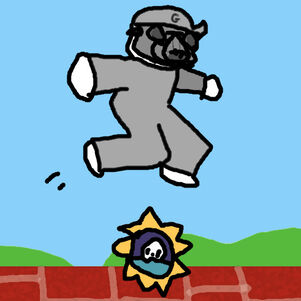 The floor is the 200 day badge