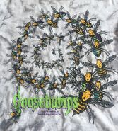 17 Afraid of Bees spiral Tie-Dye 1995 shirt detail