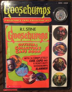 Goosebumps Collectors Caps Collecting Kit Pack front