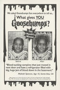 What Gives You Goosebumps contest winner in orig series 27 1stpr Jan 1995