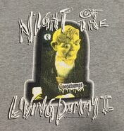 Night Living Dummy II TV Slappy 1996 T-shirt detail