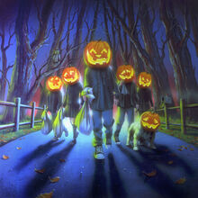 Attack of the Jack-O'-Lanterns - artwork