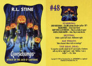 Goosebumps 48 Attack Jack O Lanterns trading card front and back