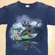 Curly Skeleton Ride The Curl Goosebumps Shirt