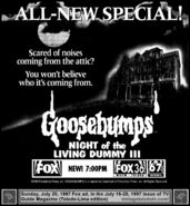 Night of the Living Dummy 3 Print Ad