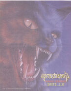 Goosebumps 2000 01 Cry of the Cat iron on decal front