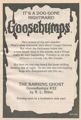 OS 32 The Barking Ghost bookad from OS 31 1stpr