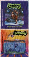 Goosebumps 47 Legend of the Lost Legend metallic stickers