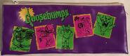 5 Character purple zip Pencil Bag
