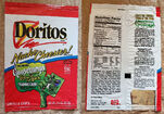 Doritos bag with glow-in-the-dark Goosebumps trading cards 1994
