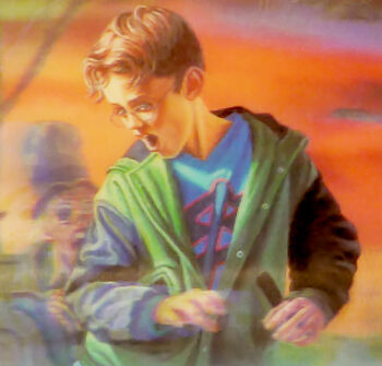 Spencer as depicted on the Dutch cover of Attack of the Graveyard Ghouls.