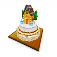 Pet House Christmas Cake