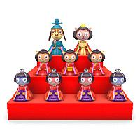 Pet Hina Doll Set