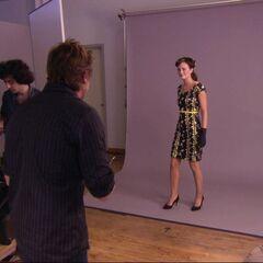 Blair posing at the photoshoot