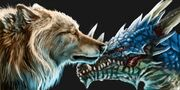 Dragon and Direwolf resized