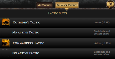 Alliance Tactics