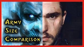 Army Size Comparison White Walkers Army of the Dead vs Army of Allies Game of Thrones Season 8
