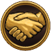 Friend Icon Gold Dark