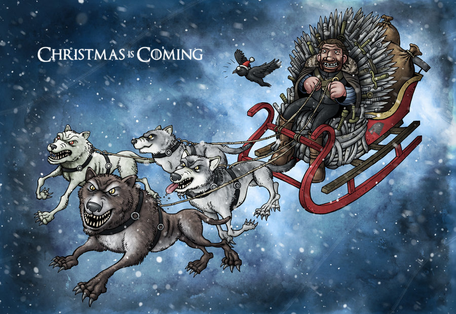 Image christmas card christmas is game of for Christmas gifts for game of thrones fans
