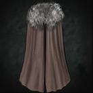 Fur-trimmed Cloak