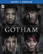 Gotham The Complete First Season bluray cover