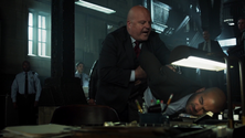 Nathaniel Barnes restrains Detective Perez