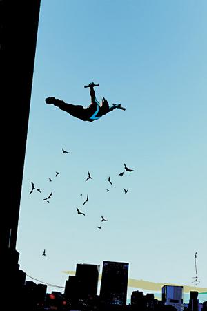 Nightwing falling
