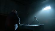 Nathaniel Barnes asking Oswald Cobblepot about Theo Galavan's murder