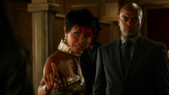 Fish Mooney telling Detectives Allen and Montoya who had ordered the kill on Oswald Cobblepot
