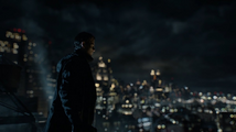 Bruce Wayne overlooking Gotham City